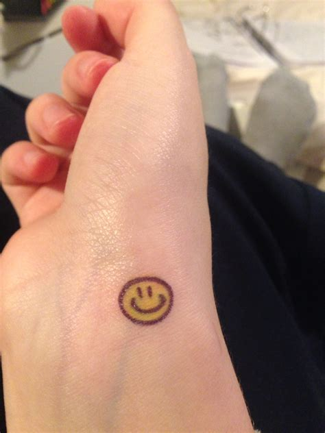 small smiley face tattoo smiley small idea pinteres