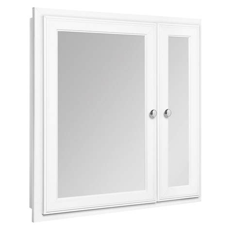 Recessed Mirrored Medicine Cabinet Glacier Bay 24 In X 25 In Recessed Mirrored Medicine Cabi