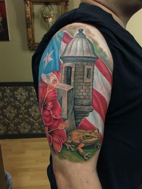 puerto rican flag tattoo design ricotattoo tattoos sleeve