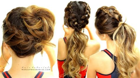cute everyday hairstyles tumblr 3 cutest braided hairstyles mohawk braid messy bun
