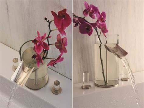 bathroom flowers bathroom faucet flower vase design in one product