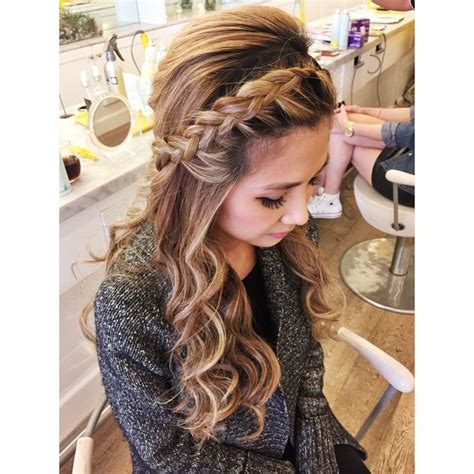 soft waves hairstyles for prom braid with loose curls sharireyes hairbyshari hair