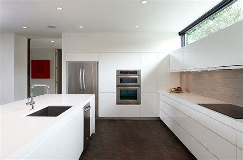 contemporary kitchen with flat panel cabinets by david flat panel cabinet with modern cabinets wall updated