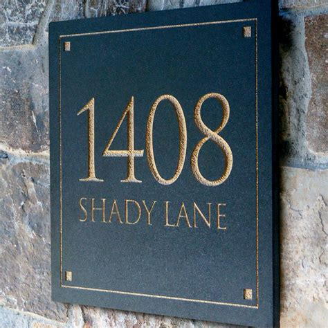 address plaques for house engraved stone address plaque