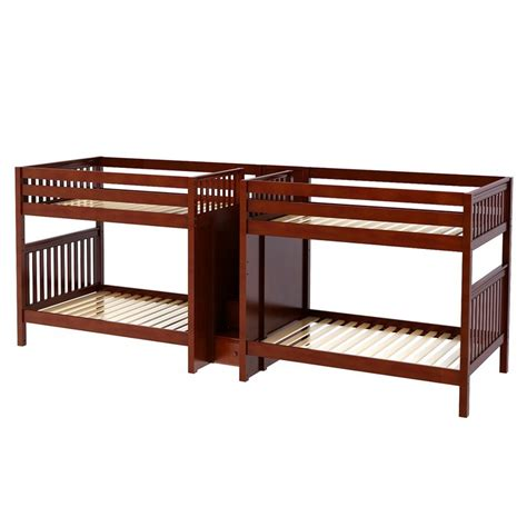 quadruple bunk bed maxtrixkids giga cs quadruple bunk bed with staircase