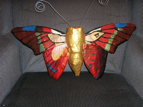 How To Make A Paper Mache Butterfly - paper mache butterfly by terraterror on deviantart