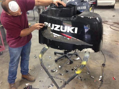 Suzuki Outboard Paint Suzuki Paint Peeling And Fading Solution The Hull