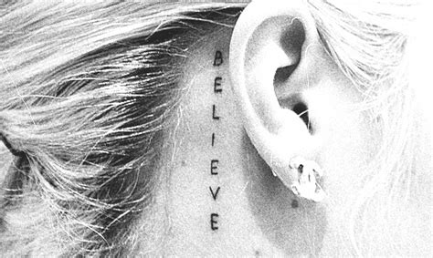 Believe Tattoo Behind Ear | face best tats