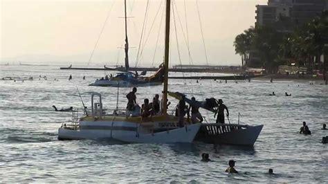 catamaran waikiki mana kai catamaran waikiki beach honolulu oahu hawaii