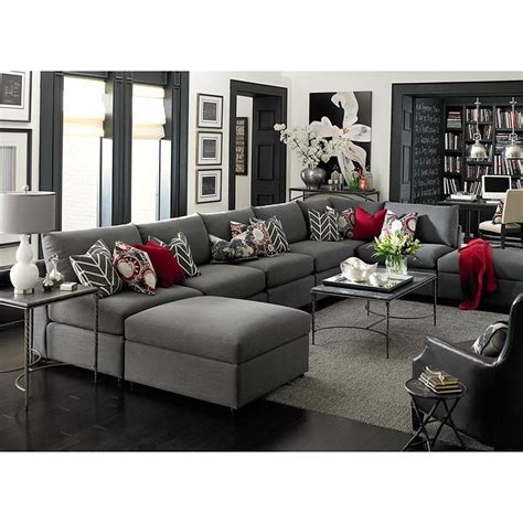 grey sectional living room 17 best ideas about red accents on pinterest red decor