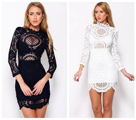 resort 2015 fashion trend black and white lace dior erdem new 2016 autumn fashion women dress vintage dress bohemian