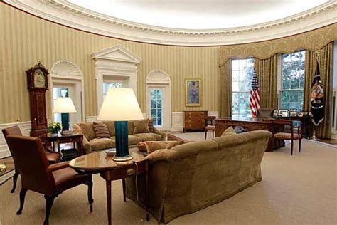 oval office wallpaper oval office has a new look