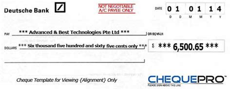 deutsche bank cheque cheque printing writing software for singapore banks