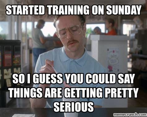 Training Meme - training on sunday