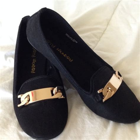 black flat shoes with gold buckle 60 laundry shoes gold buckle black flats from