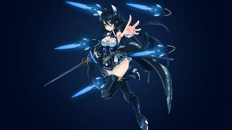 wallpaper floating swords sword girl anime girl
