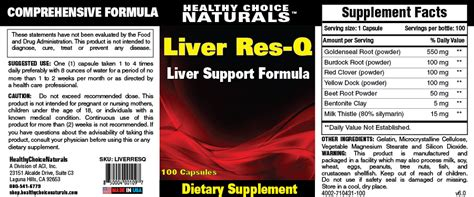 res q supplements liver cleanse supplements liver support formula