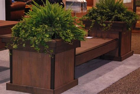 bench with planter box wooden decks build a deck bench with planter boxes