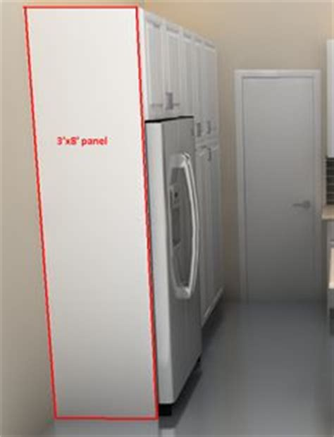 installing refrigerator cabinet side panels 1000 images about kitchen ideas on cabinets