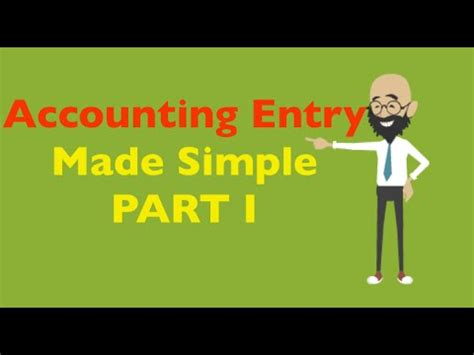 Mba In A Week by Accounting Entry Journal Entry Part I Mba In Pills