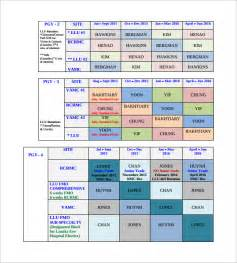 Rotating Schedule Template by Sle Rotation Schedule Template 15 Free Documents In