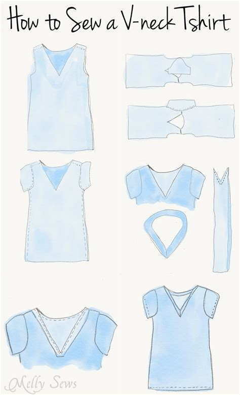 sewing pattern t shirt sew a v neck women s t shirt with free pattern melly sews