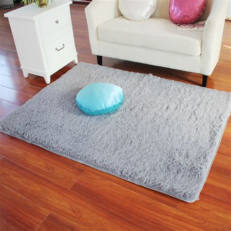 Soft Bedroom Carpet Rectangle Soft Fluffy Rug Anti Skid Shaggy Study Room