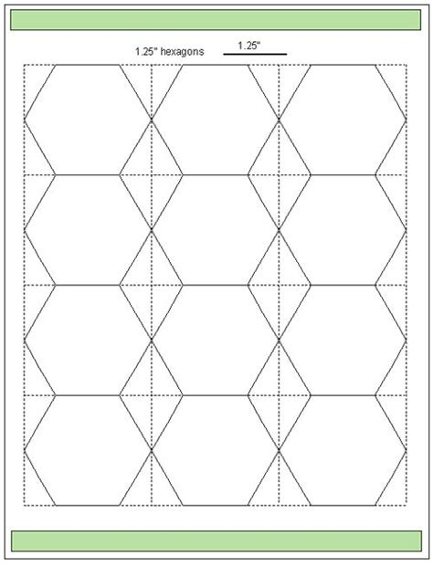 tips for cutting hexagon templates template english and