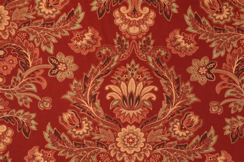 upholstery fabric phoenix richloom phoenix printed cotton drapery fabric in kiln red