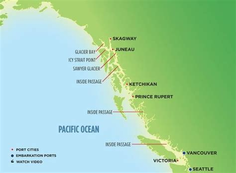 seattle to juneau map map of s alaska cruises crusing w ncl