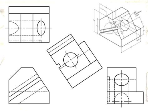 Drafting Online Tool engineering drawing orthographic projection auxiliary view