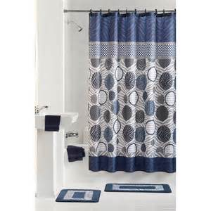 shower curtains set mainstays 13pc fabric shower curtain and decorative hooks