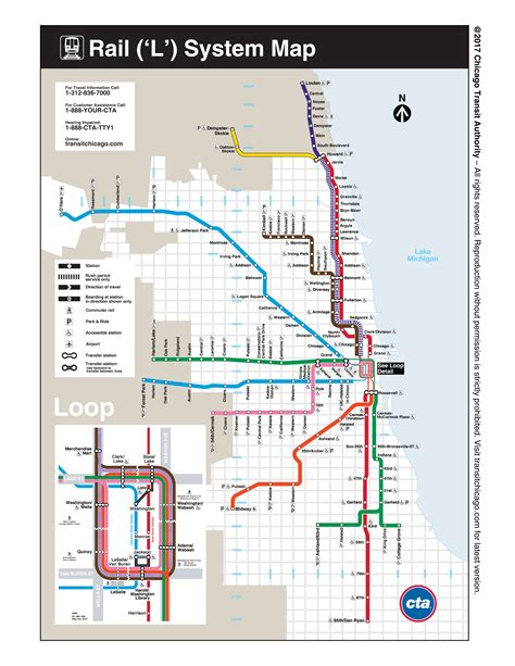 chicago map cta cta maps and l system maps