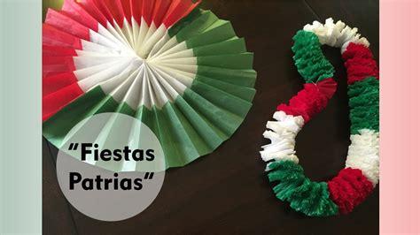 cadenas de papel tricolor quot decoraciones para las fiestas patrias quot roseta tricolor y