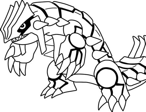 Groudon Coloring Pages groudon lineart by eizokun on deviantart