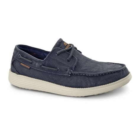 boat shoes fit skechers relaxed fit status melic mens boat shoes navy