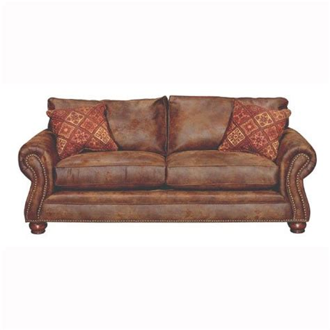 brown faux leather sofa tahoe 90 quot brown faux leather sofa sleeper