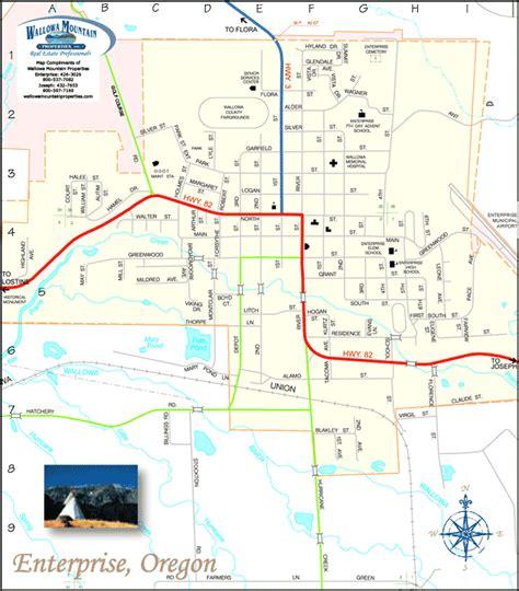 map of joseph oregon enterprise oregon map