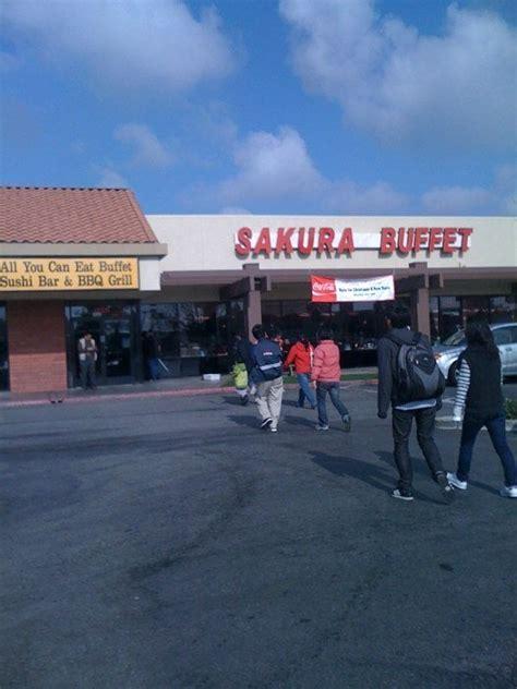 sakura buffet sign on outside super king buffet sign on