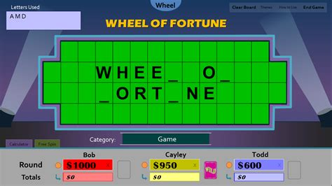 tim s slideshow games wheel of fortune for powerpoint