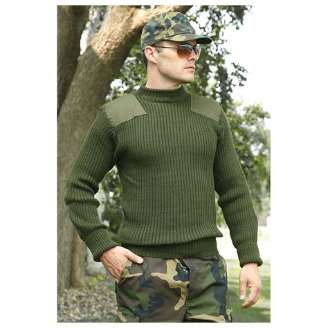 How Will I U Sweater us army sweater wool cardigan with buttons