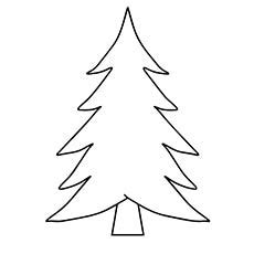 blank christmas tree coloring pages happy holidays