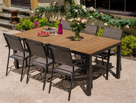 salon de jardin table bilbao 2m 6 fauteuils antalya oogarden