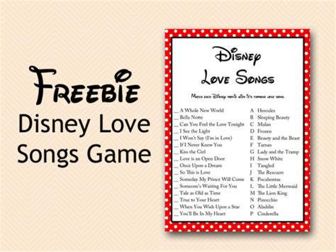 Songs For Baby Showers by Free Disney Song Bridal Shower Bridal Shower