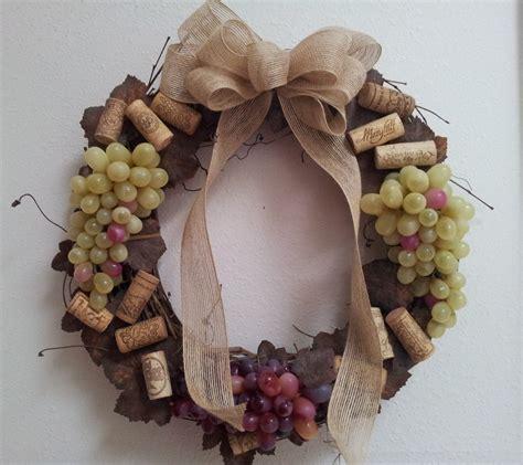 wine cork grapevine wreath