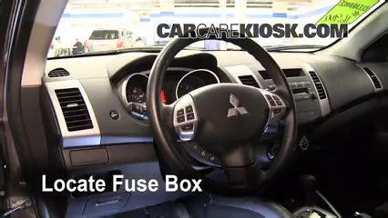 interior fuse box location   mitsubishi outlander