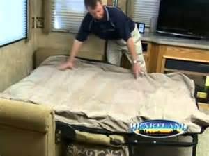 Replacement Mattress For Sofa Bed Heartland Rv S Air Mattress Video Youtube