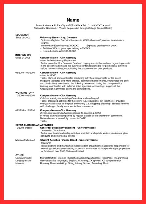 exle of a good resume format sle resume in usa resume format