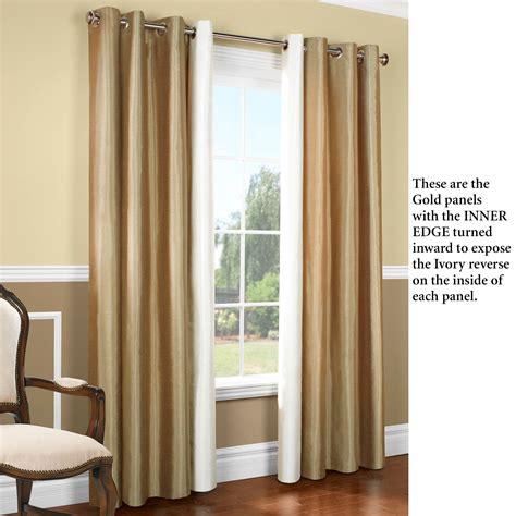 miller curtain miller reversible thermalogic tm grommet wide curtain pair