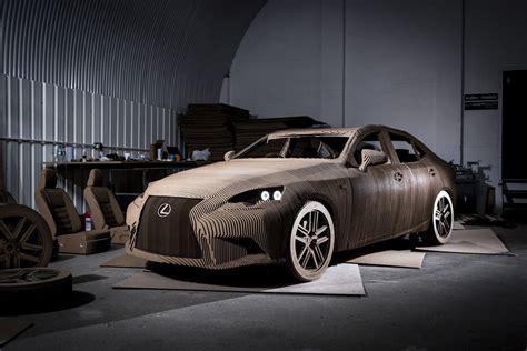 electric lexus car lexus builds cardboard electric car